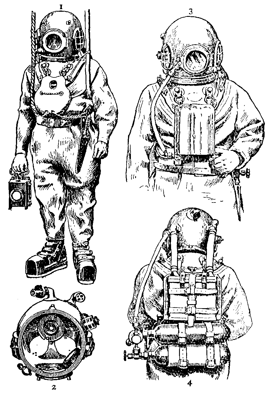 the gallery for gt old diving suit drawing